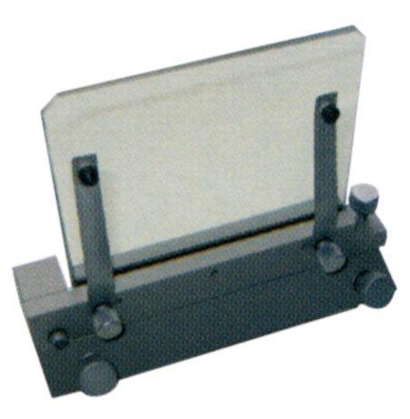 Plaque support vertical en verre pour projecteur de profils