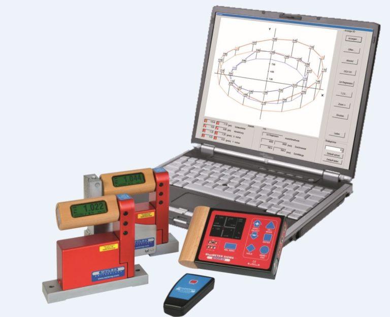 Inclinomètre électronique digital de haute précision WYLER. Contrôle de géométrie de machine, cartographie de marbre
