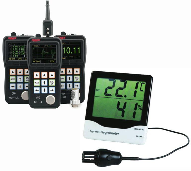 Mesure d'épaisseurs - Mesure de températures - Mesure de vitesses, de temps