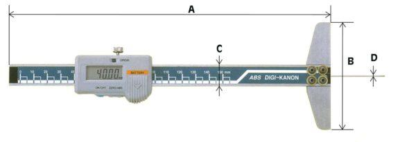 Instruments de mesure à main jauge de profondeur digitale