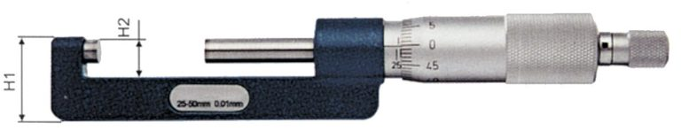Micromètre à col de cygne réduit