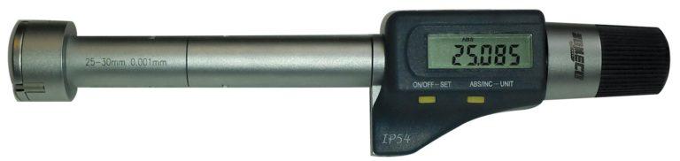 Micromètre d'intérieur digital à 3 touches (alésomètre)
