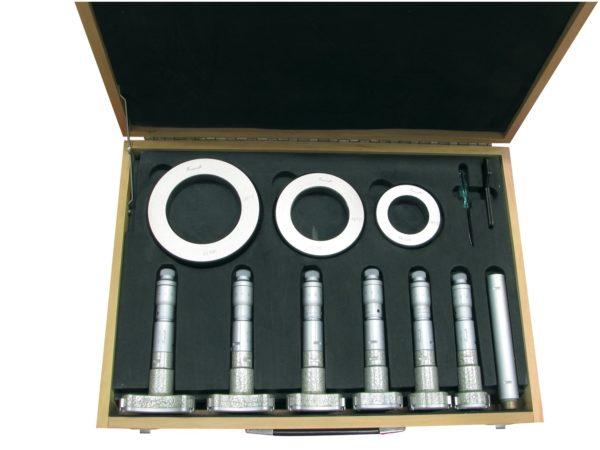 Jeux de micromètres d'intérieur à trois touches (alèsomètre)