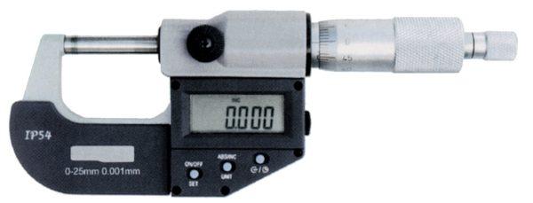 Micromètre d'extérieur à lecture digitale et vernier