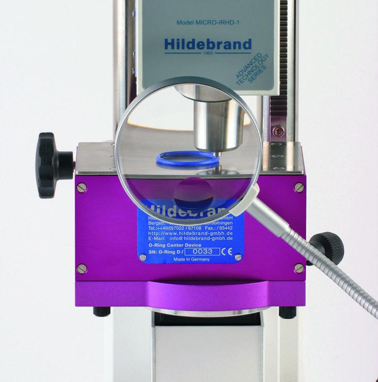 Système de centrage O-Ring breveté par HILDEBRAND, importé par SOMECO