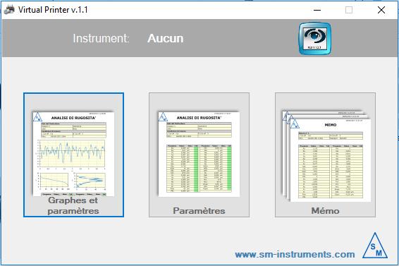 Capture d'écran du logiciel Virtual PRINTER - Logiciel 1.414